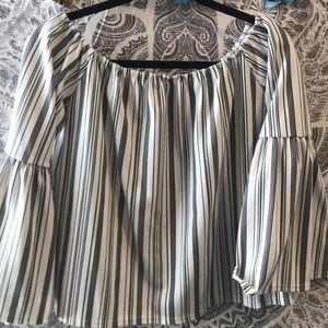 Boohoo striped top